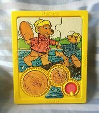Vintage 1980s Playskool moveable parts Beaver puzzle