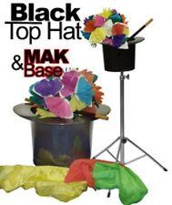 Black TOP HAT & EUREKA FOLDING TABLE BASE STAND Magicians MAK Magic Trick 3 Legs