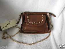 Junior Drake  Leather Bag Chain strap  Brown NWT  Smash