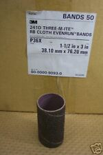 "3M 9093 1-1/2"" X 3""  P36X EVENRUN RB CLOTH BANDS (50 PCS) NEW IN BOX"