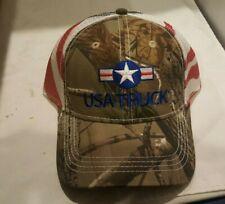 USA Truck Camo Trucker Hat Baseball Cap Adjustable NEW - Real Tree