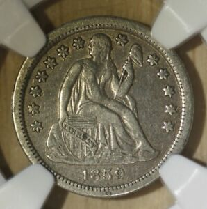 1859-o Seated Liberty Dime.  NGC XF40