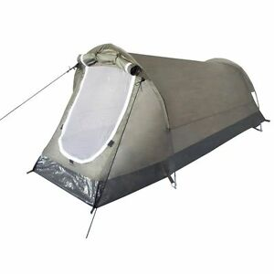 "Military Tactical Hiking Camping Outdoor Tunnel Tent ""Hochstein"" 2 Person  Green"