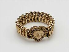 Vintage Signed Carmen The DFB Co. Expandable Sweetheart Bracelet with Monogram