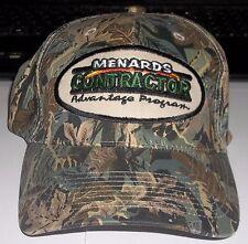 Menards Contractor Advantage Program Camo Adjustable Basball Hat CAP NEW