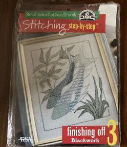Blackwork Embroidery RSN Fish Kit