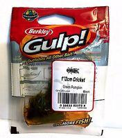 Berkley Gulp Cricket Green Pumpkin Soft Fishing Lures