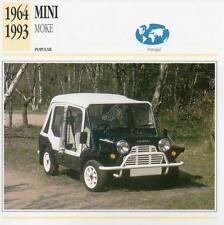 1964-1993 MINI MOKE Classic Car Photograph / Information Maxi Card