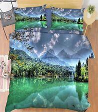 3D Cloud Landscape 66 Bed Pillowcases Quilt Duvet Cover Set Single King UK Lemon
