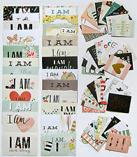 Simple Stories Snap  [I Am]  72 Double-Sided Cards with foil accents -  Save 30%