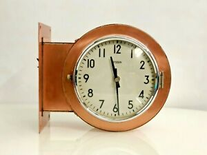 1970's Authentic Maritime Double sided Polished Wall Mounted Citizen Clock Lot 2