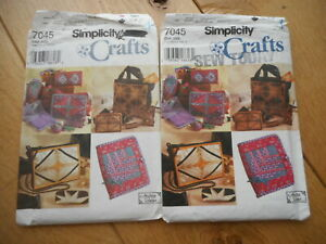 Simplicity Sewing Pattern 7045 - Accessories by Machine Paper Piecing Patchwork