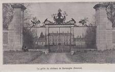 1918  --  LE GRILLE DU CHATEAU DE BERTANGLS   SOMME   3G182