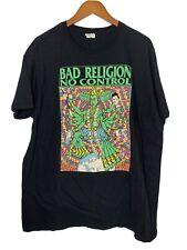 Bad Religion No Control Shirt Mens Sz 2Xl Black Ss Gildan Punk Rock Band Tee