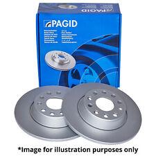 GENUINE PAGID FRONT AXLE SOLID BRAKE DISCS 51034 Ø 239,5 mm BRAKE KIT BRAKES