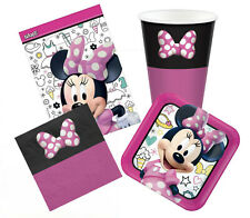 Minnie Mouse Party Supplies 40 Piece Pack 8 Cups 8 Loots 16 Napkins 8 Plates