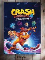 Crash Bandicoot 4: It's About Time Poster A3 A4 5x7 Satin Matt Gloss