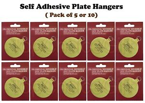 5 - 10 Self Adhesive Stick On Wall Display Plate Dish Hanger Holder Hangers Hook