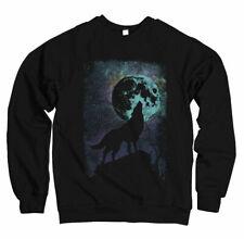 homme sweat pull Loup Abstraite Galaxie Mond Fête NEUF S S-3XL wa1016sw