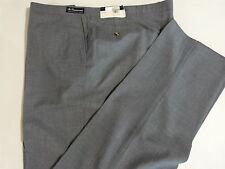 """Sansabelt Flat Front Pants, Poly/Wool, Gray, Size 54"""""""