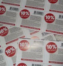24 Stück 10 % Rossmann Rabatt Coupon Coupons Gutschein Gutscheine bis 28.02.18