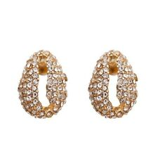 Gold Crystal Cowrie Shell  Stud Anthropologie Earrings