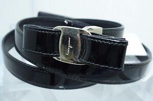 New Salvatore Ferragamo Women's Belt Black Reversible Size XL Leather