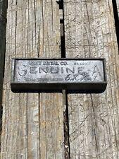 Vintage Hoyt Metal Company St.louis Genuine -A Metal Signature Babbitt