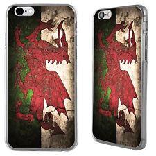 Retrò Gallese Cymru Bandiera per Apple iPhone 6 stampato Hard Case Cover per stika.co