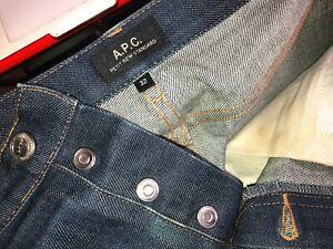 $225 Men's APC A.P.C. PETIT NEW STANDARD Stretch 0515 Button Fly Jeans-32 x 31