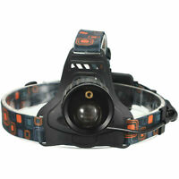 3000lm Zoomable Zoom LED Headlamp Head Lamp Headlight With Red Laser Pointer