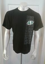 Saskatchewan Roughriders CFL Football Black Short Sleeve Crew Neck T Shirt Sz M