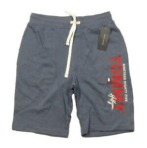 Tommy Hilfiger Sleepwear Men's Indigo Blue Logo Print Lounge Sleep Shorts