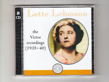 (CD) LOTTE LEHMANN: The Victor Recordings (1935-1940) / 2CDs / Romophone 81013-2