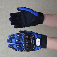 Cycling Gloves Motorbike Glove Full Finger Bicycle Bike Riding Size M-XL Blue