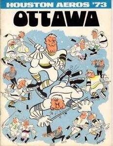1/23/72 WHA Ottawa Nationals at Houston Game Program; V.Nice!