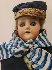 "Antique Armand Marseille #370 A.M. Dep German Bisque Lady Doll 21"" with Teeth"