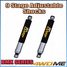 """Pair Nissan Patrol GQ Coil Cab Ute Rear 9 Stage BMX Shock Absorbers 2"""" 50mm Lift"""