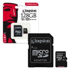 128 GB selección de lona de Kingston Tarjeta de memoria Micro Sd 80MB/s UHS-1 clase 10 + Adaptador