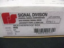 Weatherproof case federal signal WB