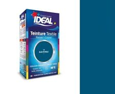 TEINTURE avec FIXATEUR TEXTILE TISSU BLEU PÉTROLE 14 IDEAL vêtement coton soie