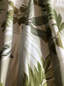 """SALE! ROOM BUNDLE 'GREEN LEAVES' 72"""" DROP CURTAINS/ SHADE/ 3X CUSHION COVERS!"""