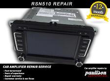 VW Volkswagen RNS510 Sat Nav Repair Service (Splash Screen,boot Problem) ONLY