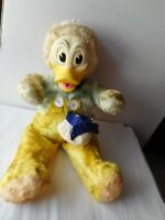 """Awesome Early Antique Disney Swedlin Gund 20"""" Donald Duck Rubber Face Plush"""