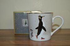 Portmeirion Sara Miller Christmas Collection 12 oz Mug BNIB - Penguins