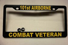 Military License Plate FRAME, 101st AIRBORNE/COMBAT VETERAN-- ABS-#841409Y