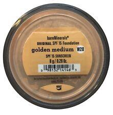 2 X Bare Minerals Original SPF 15 Loose Powder Foundation 8g bareMinerals Golden Medium (w20) Light Matte