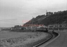 PHOTO  BELFAST  LARNE HARBOUR 3 CAR DMU APPROACHING LARNE STATION. 9/73 LF