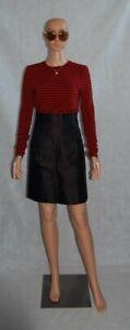 MIU MIU Black Silk Concealed Kangaroo Pocket High Waisted Smart Pencil Skirt  8