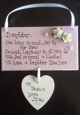 Personalised Daughter Like You Granddaughter Thank You Birthday Gift Plaque